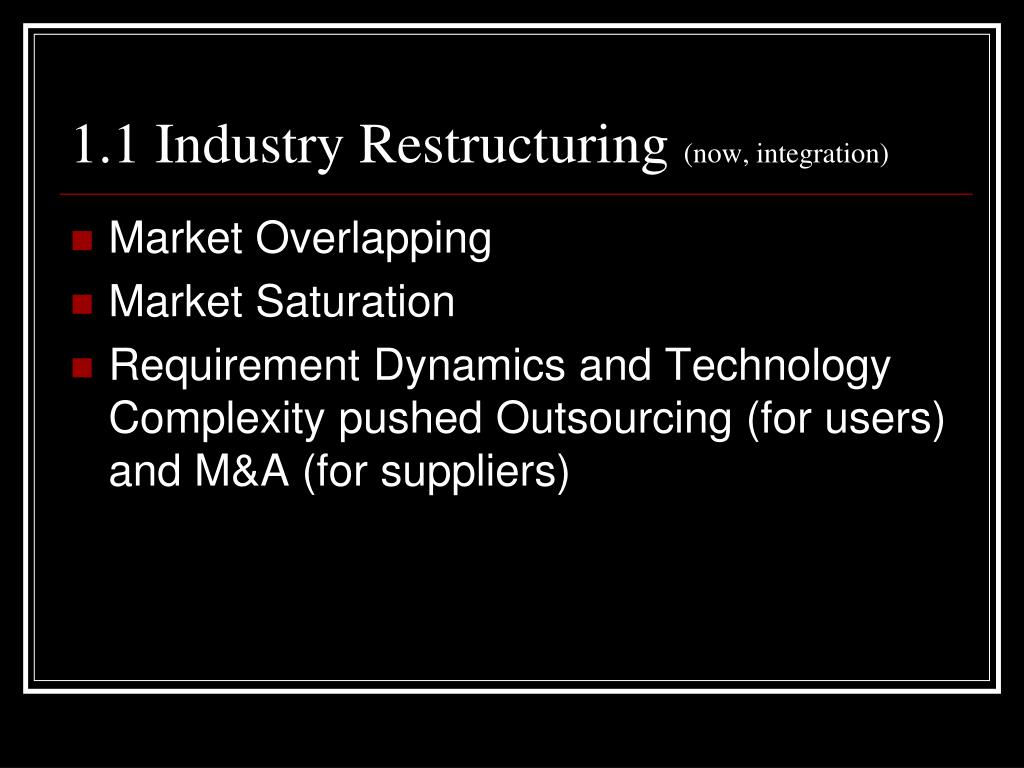 1.1 Industry Restructuring
