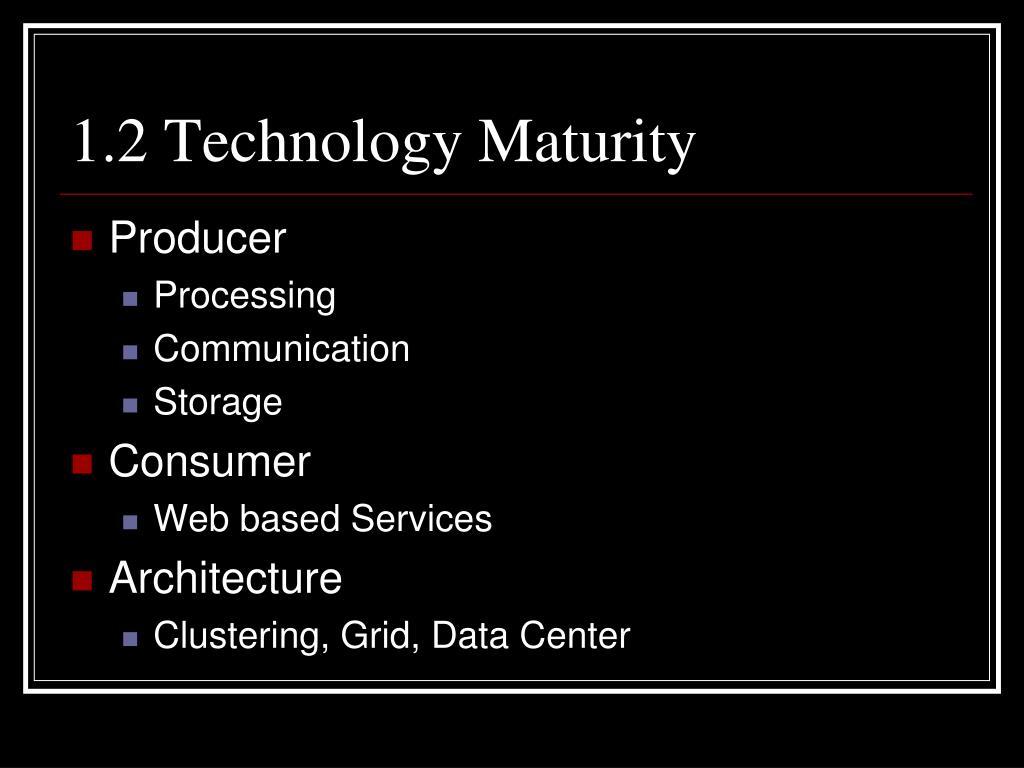 1.2 Technology Maturity