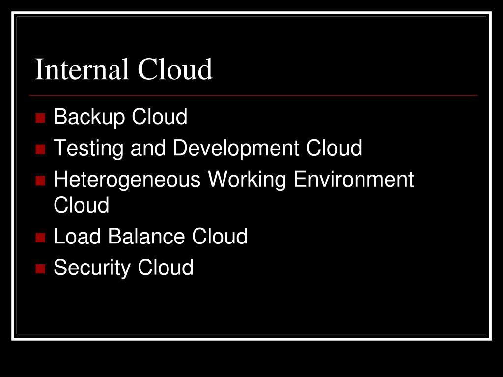 Internal Cloud