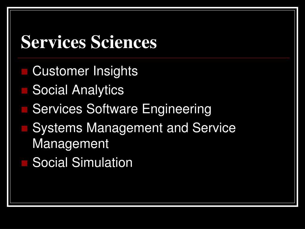 Services Sciences