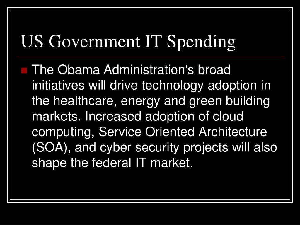 US Government IT Spending