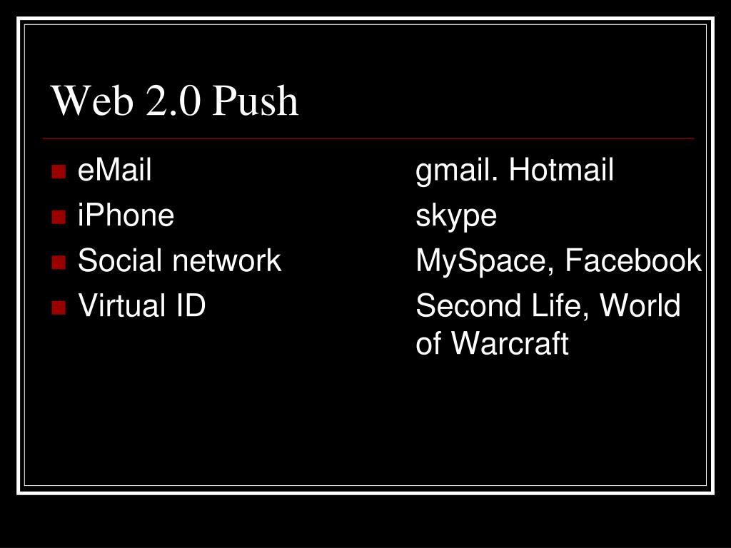 Web 2.0 Push