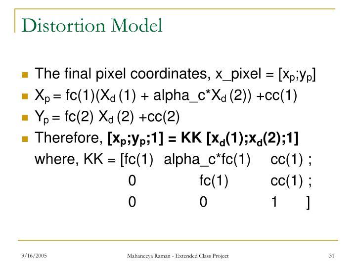 Distortion Model