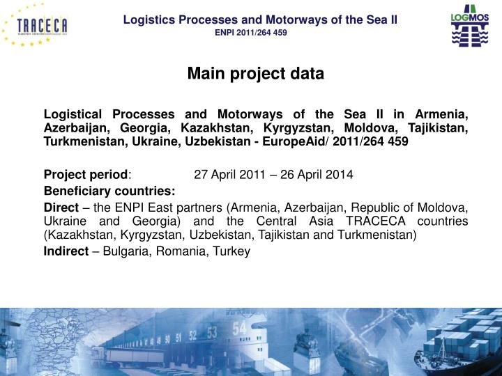 Main project data