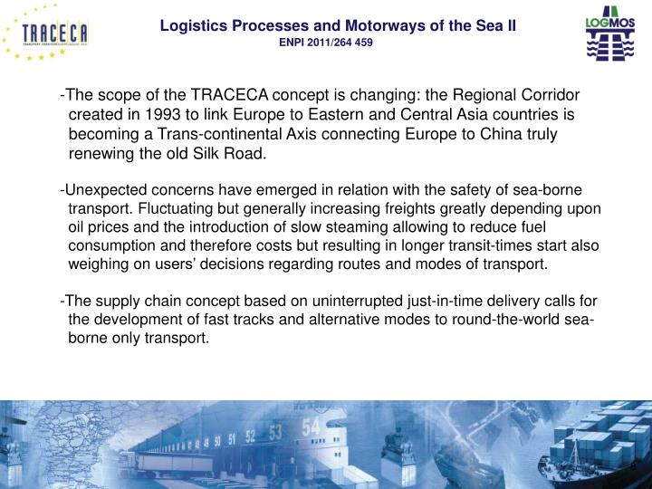 The scope of the TRACECA concept is changing: the Regional Corridor