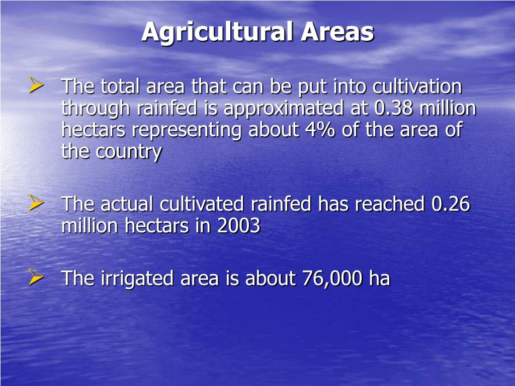Agricultural Areas