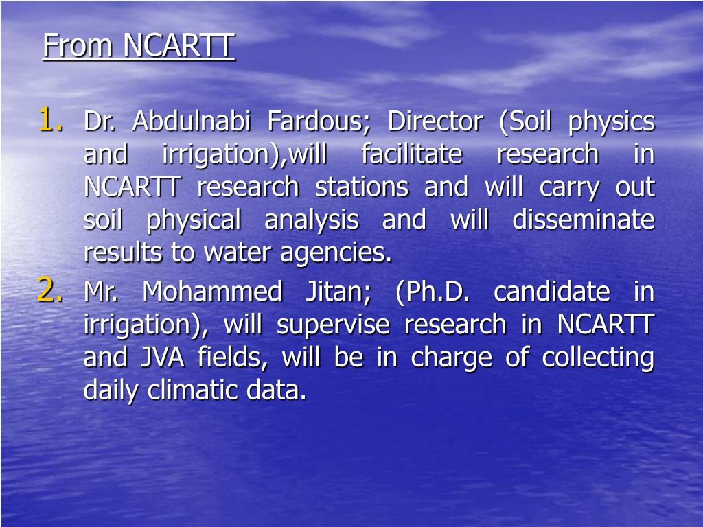 From NCARTT