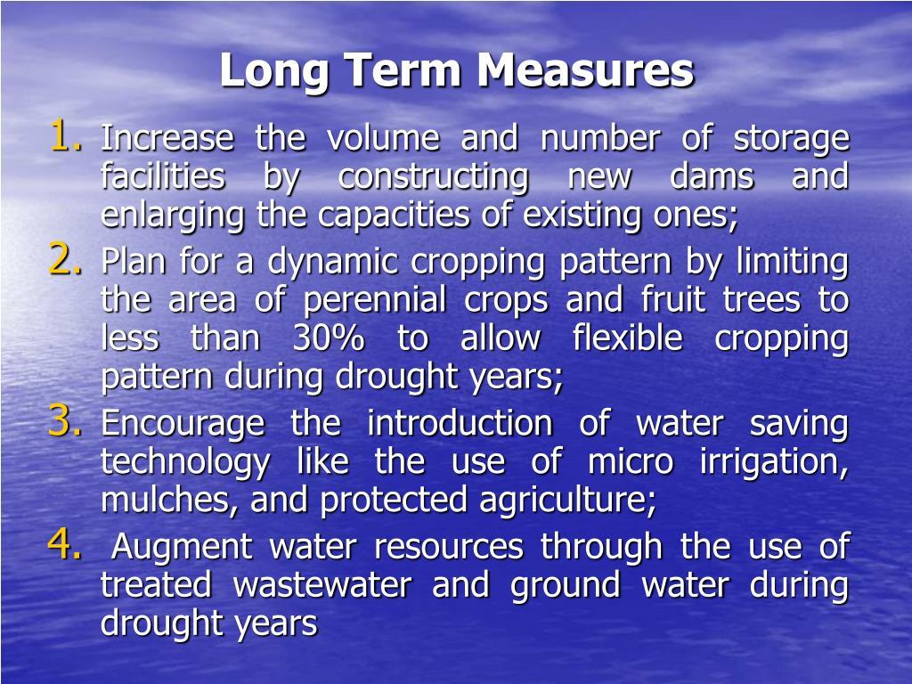 Long Term Measures