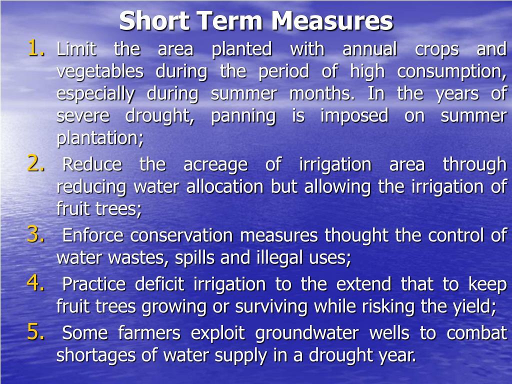 Short Term Measures