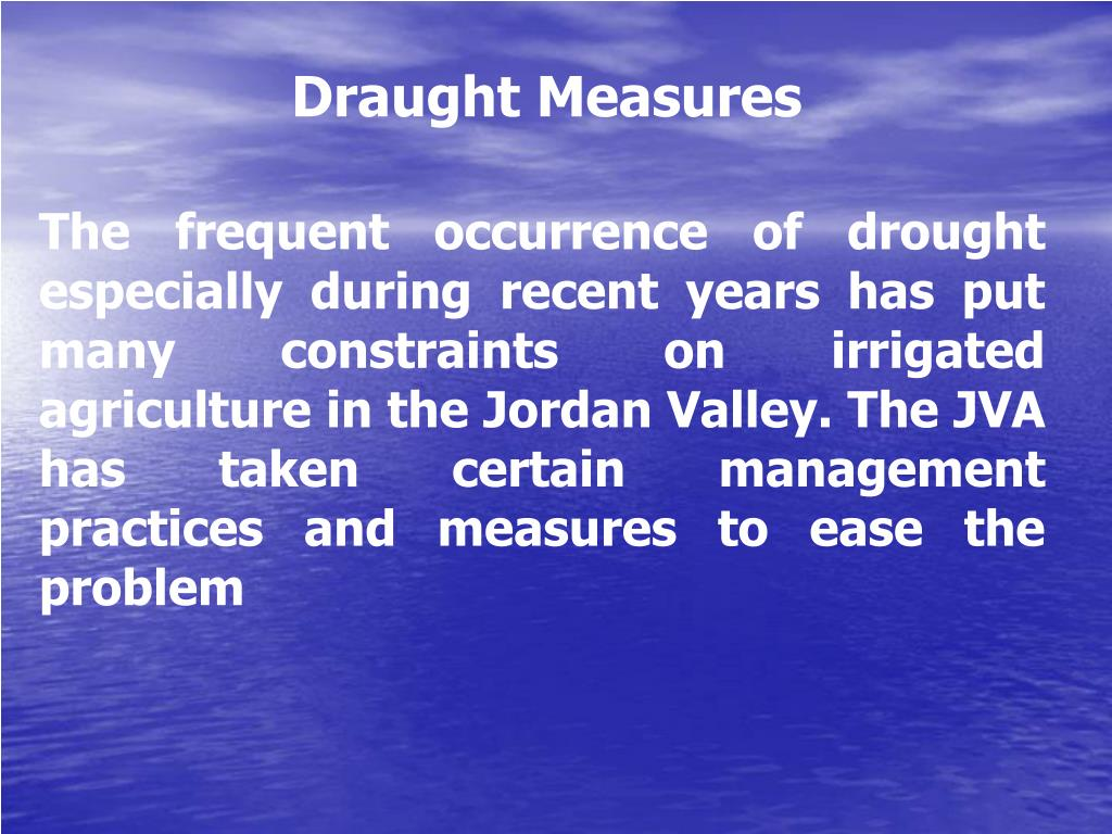 Draught Measures