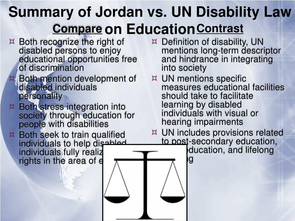 Definition of disability, UN mentions long-term descriptor and hindrance in integrating into society