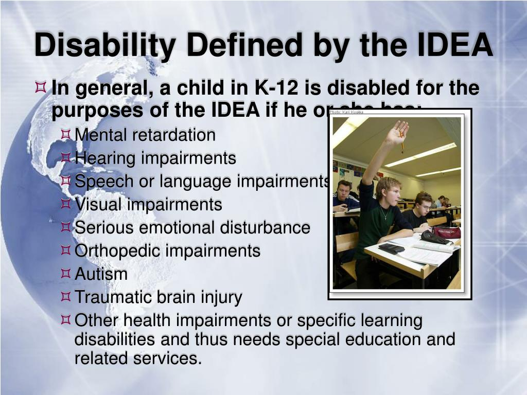 Disability Defined by the IDEA