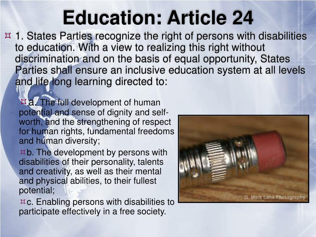 Education: Article 24