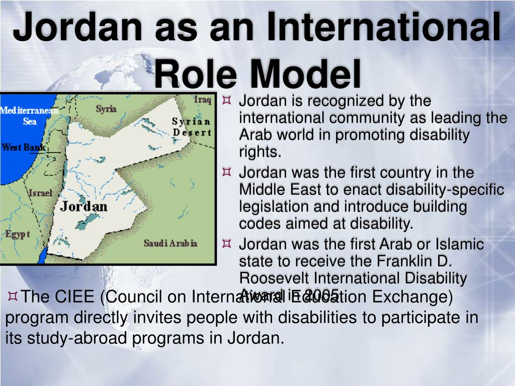 Jordan as an International Role Model
