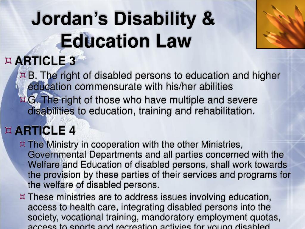 Jordan's Disability &