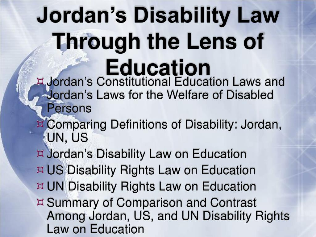 Jordan's Disability Law Through the Lens of Education
