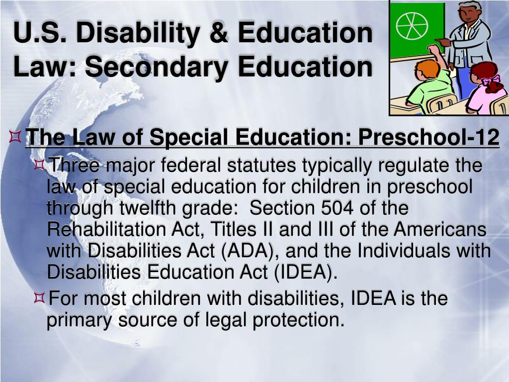 U.S. Disability & Education