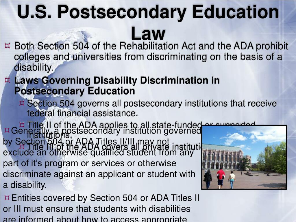 U.S. Postsecondary Education Law