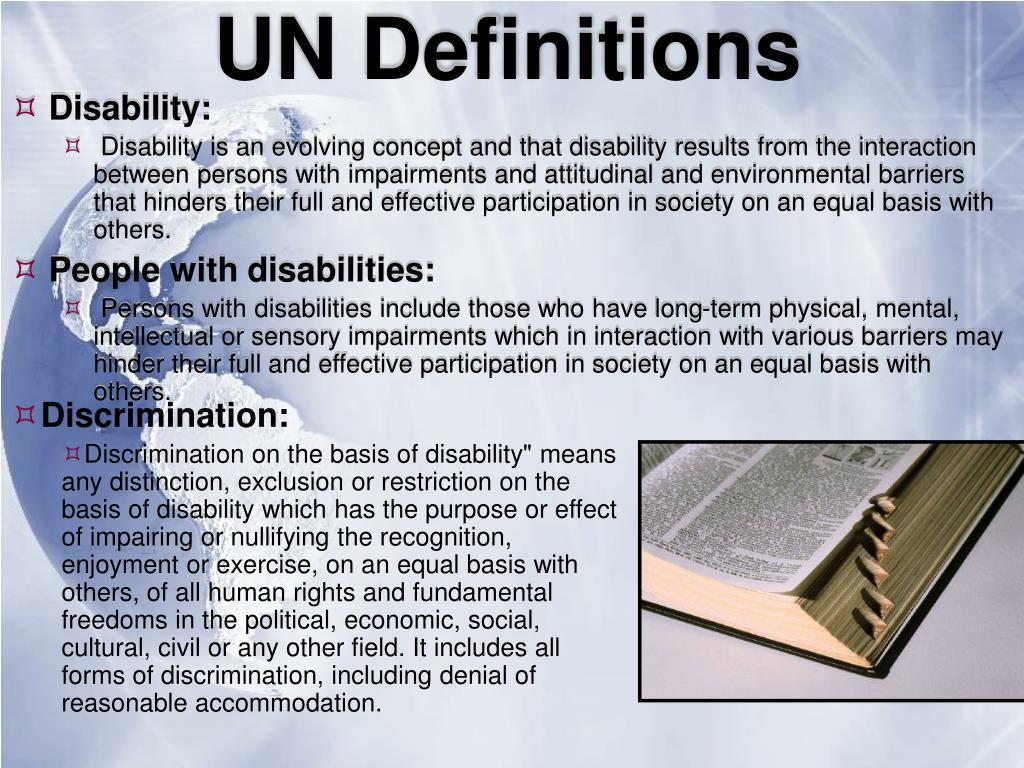 UN Definitions
