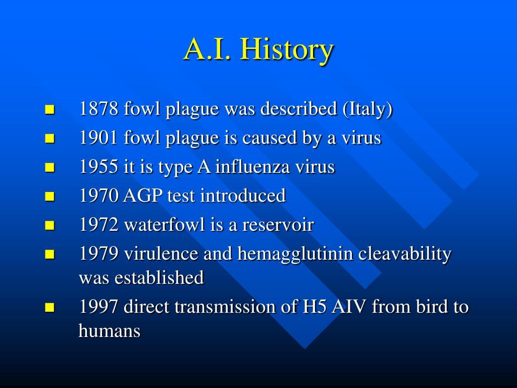 A.I. History