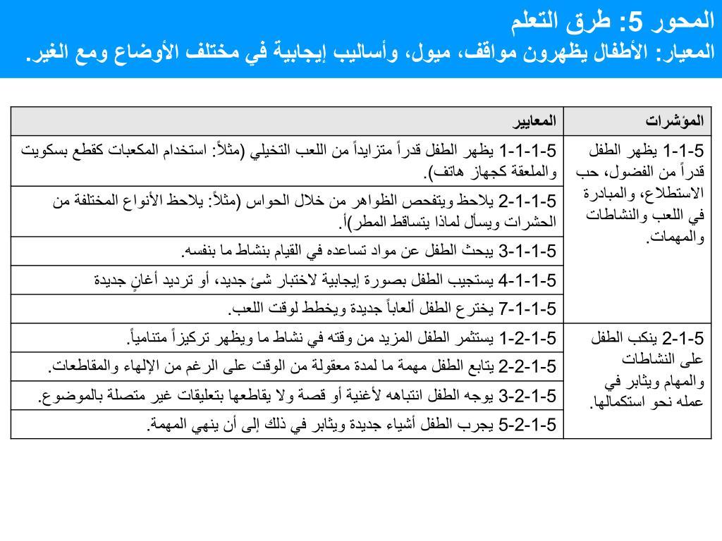 المحور 5: