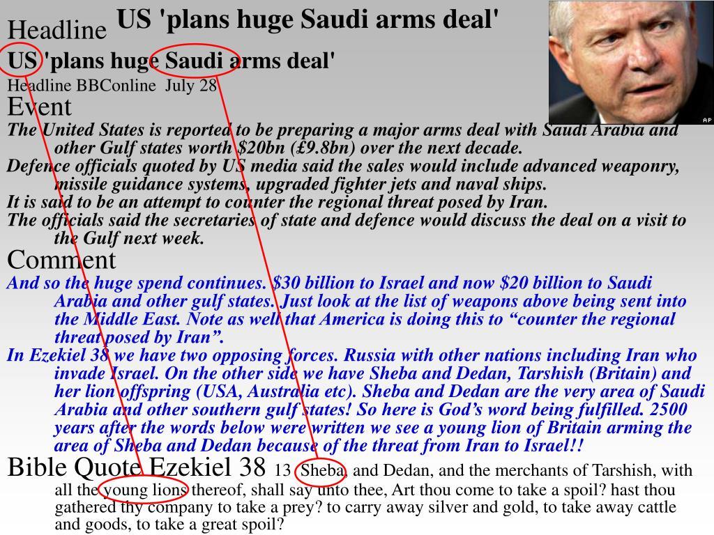 US 'plans huge Saudi arms deal'