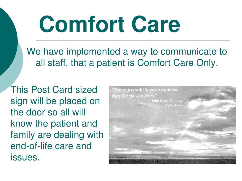 Comfort Care