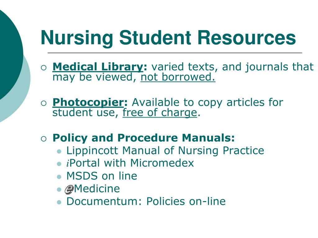 Nursing Student Resources