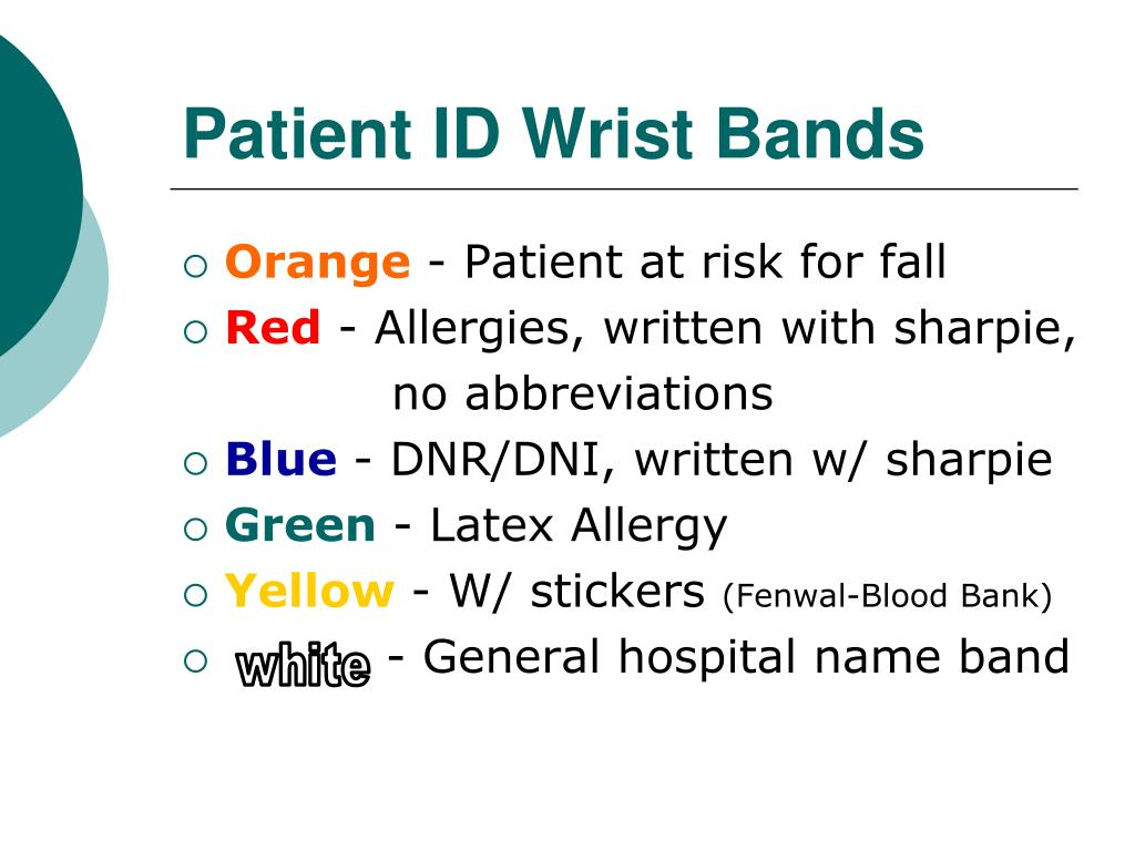 Patient ID Wrist Bands