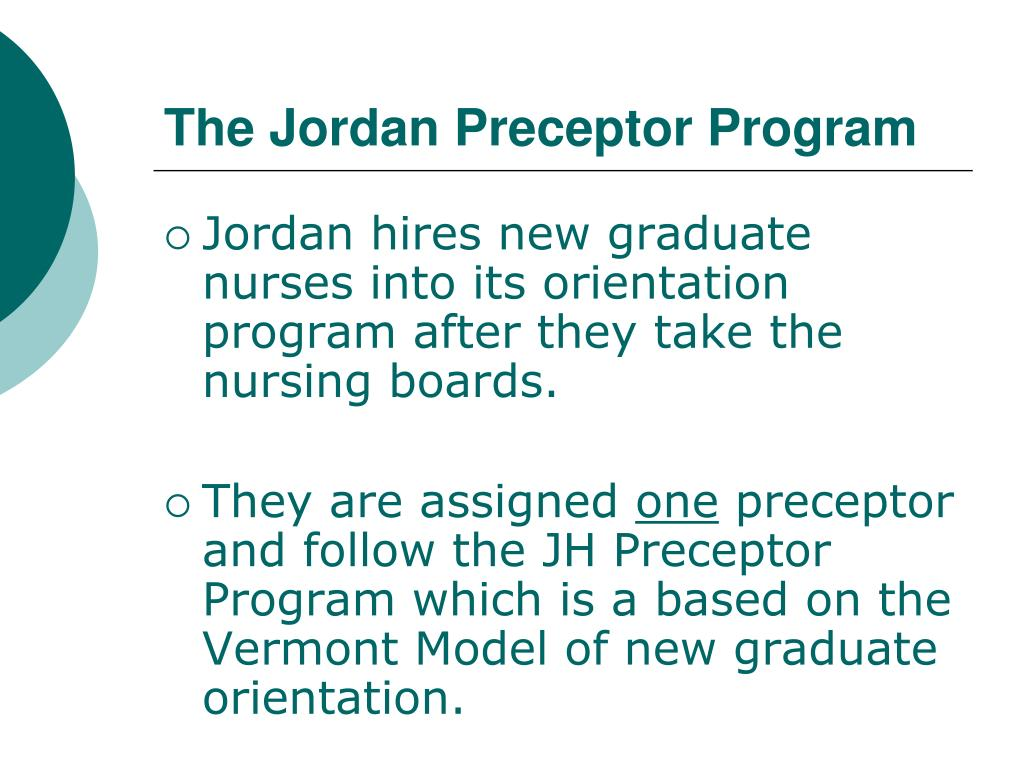 The Jordan Preceptor Program