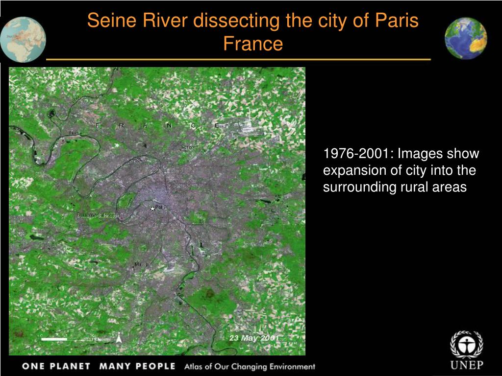 Seine River dissecting the city of Paris