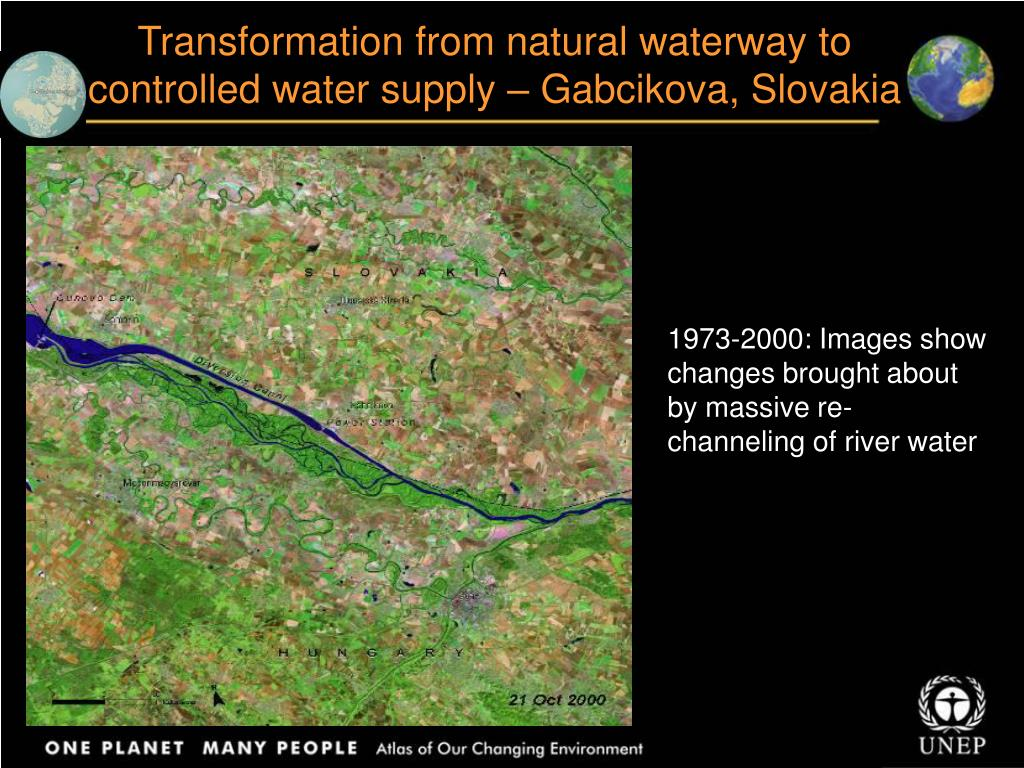 Transformation from natural waterway to controlled water supply – Gabcikova, Slovakia