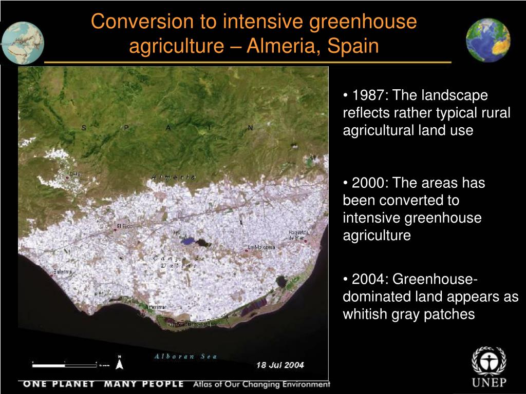 Conversion to intensive greenhouse agriculture – Almeria, Spain