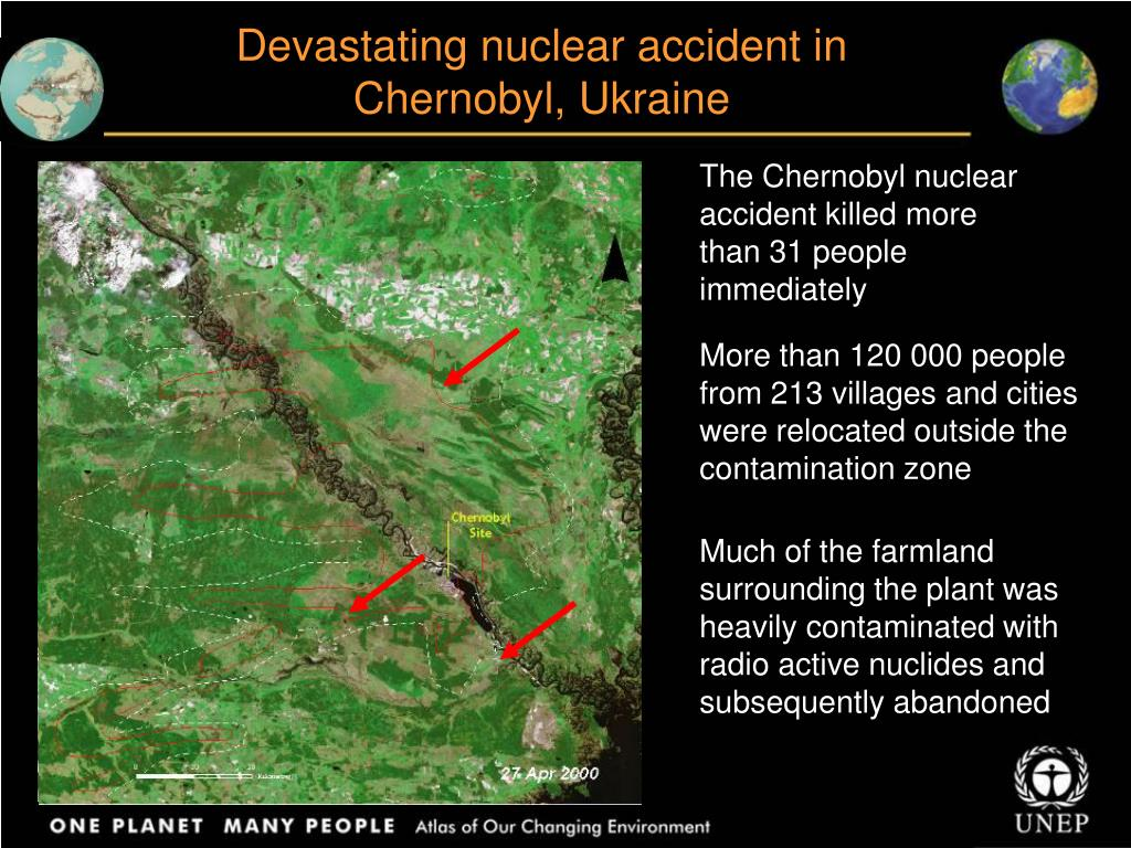 Devastating nuclear accident in Chernobyl, Ukraine