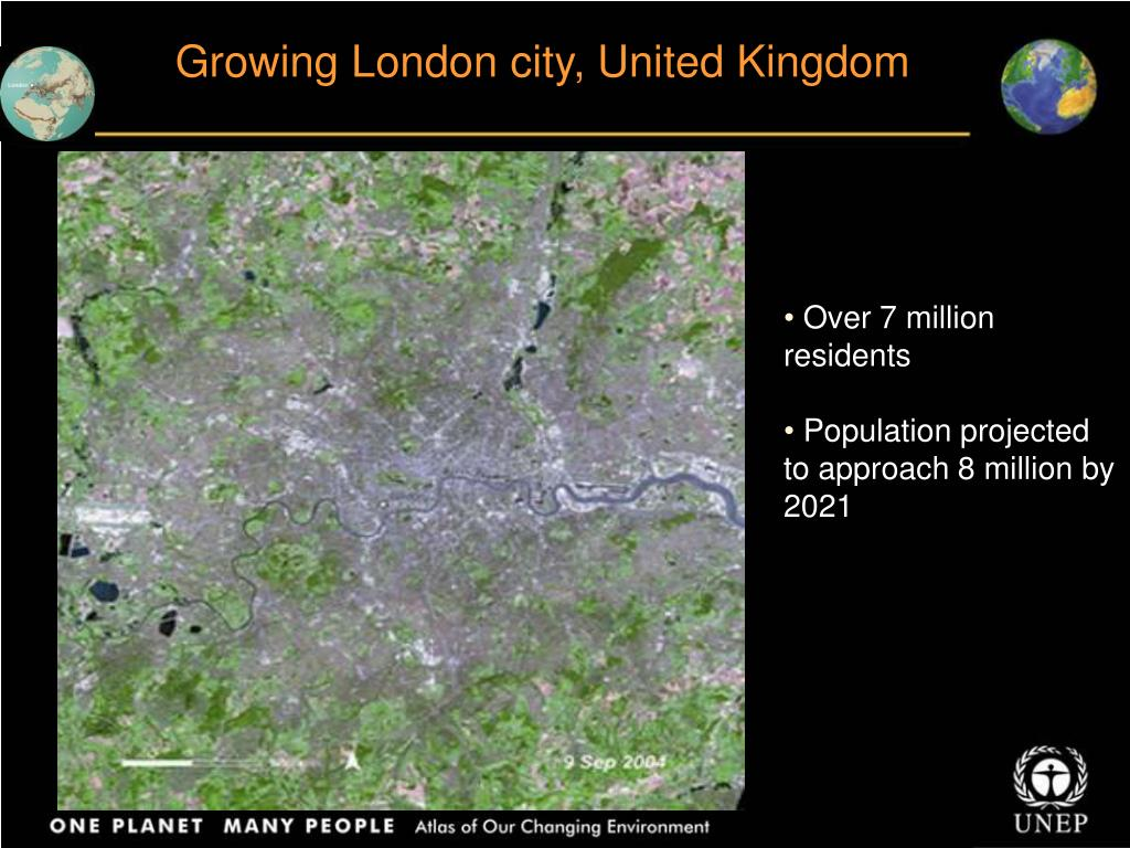Growing London city, United Kingdom