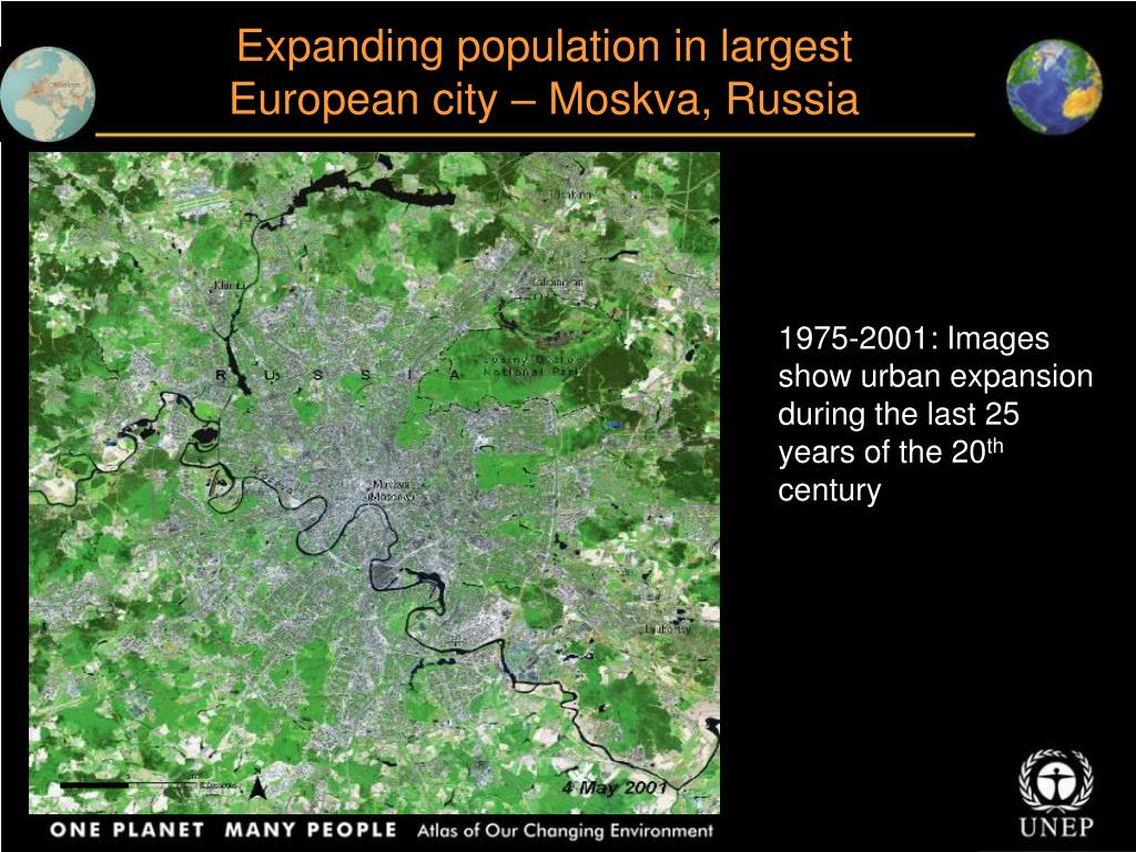Expanding population in largest European city – Moskva, Russia