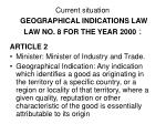 current situation geographical indications law law no 8 for the year 2000