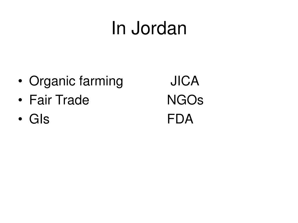 In Jordan