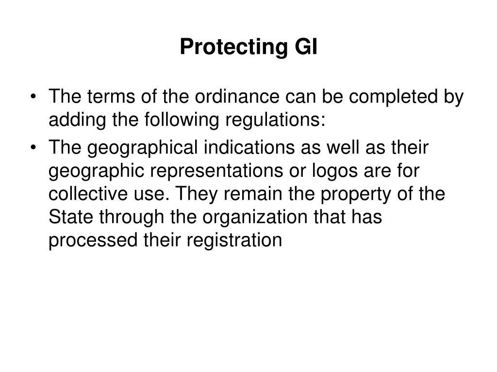 Protecting GI