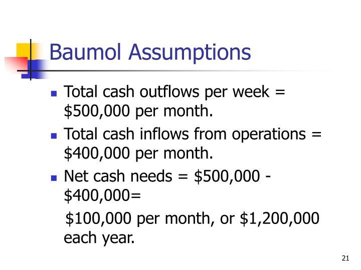 Baumol Assumptions