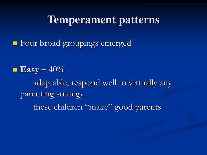 Temperament patterns
