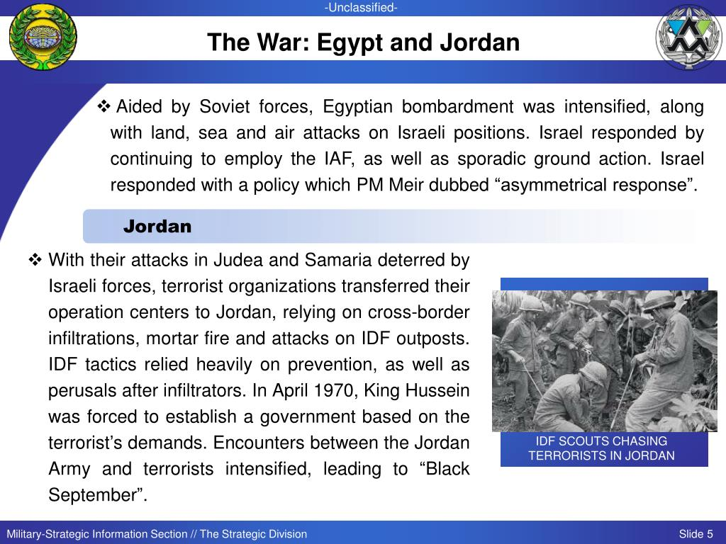 The War: Egypt and Jordan