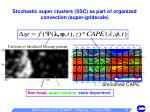 stochastic super clusters ssc as part of organized convection super gridscale