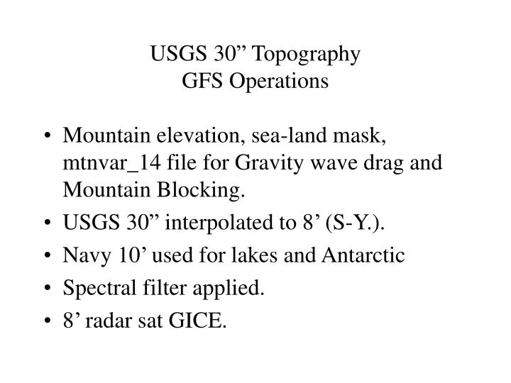 Usgs 30 topography gfs operations