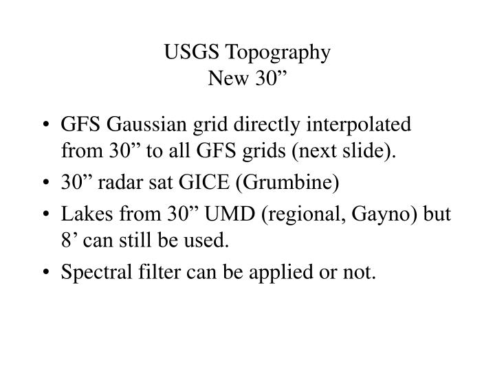 Usgs topography new 30
