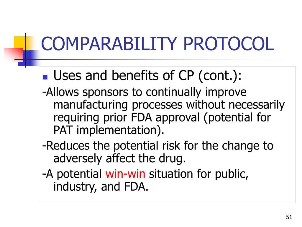 COMPARABILITY PROTOCOL