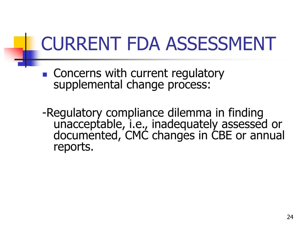 CURRENT FDA ASSESSMENT