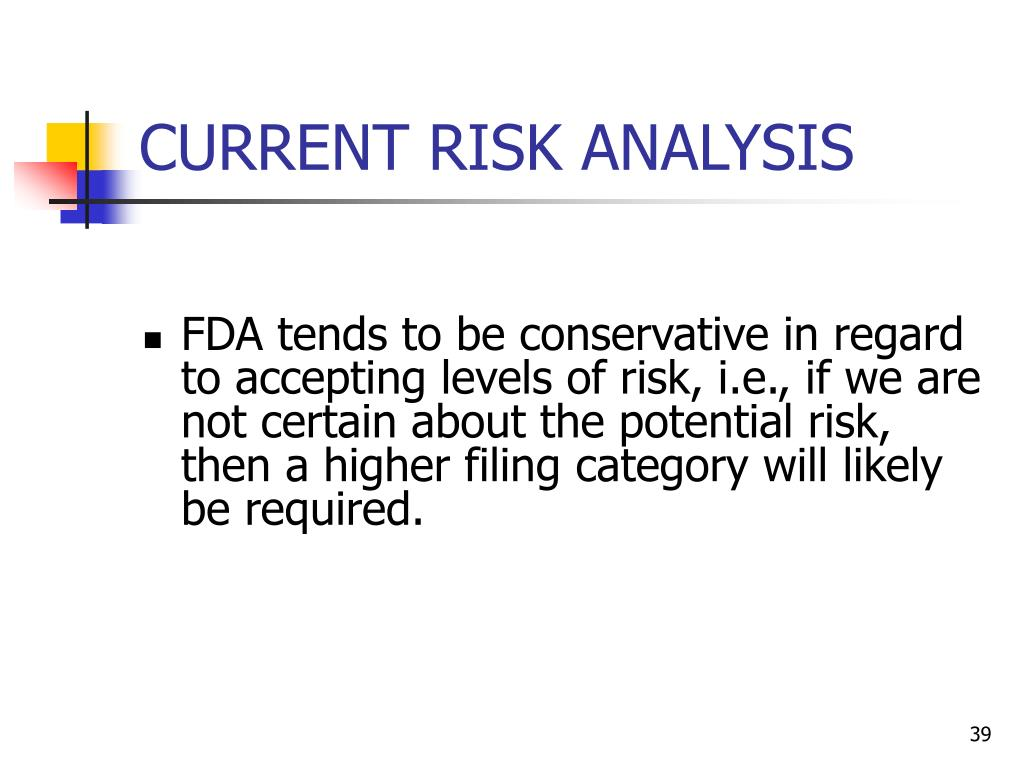 CURRENT RISK ANALYSIS