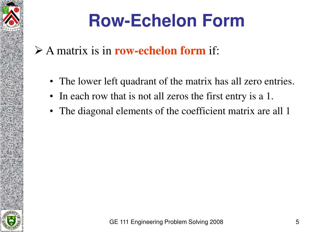 Row-Echelon Form