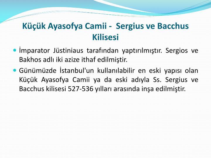 Küçük Ayasofya Camii -